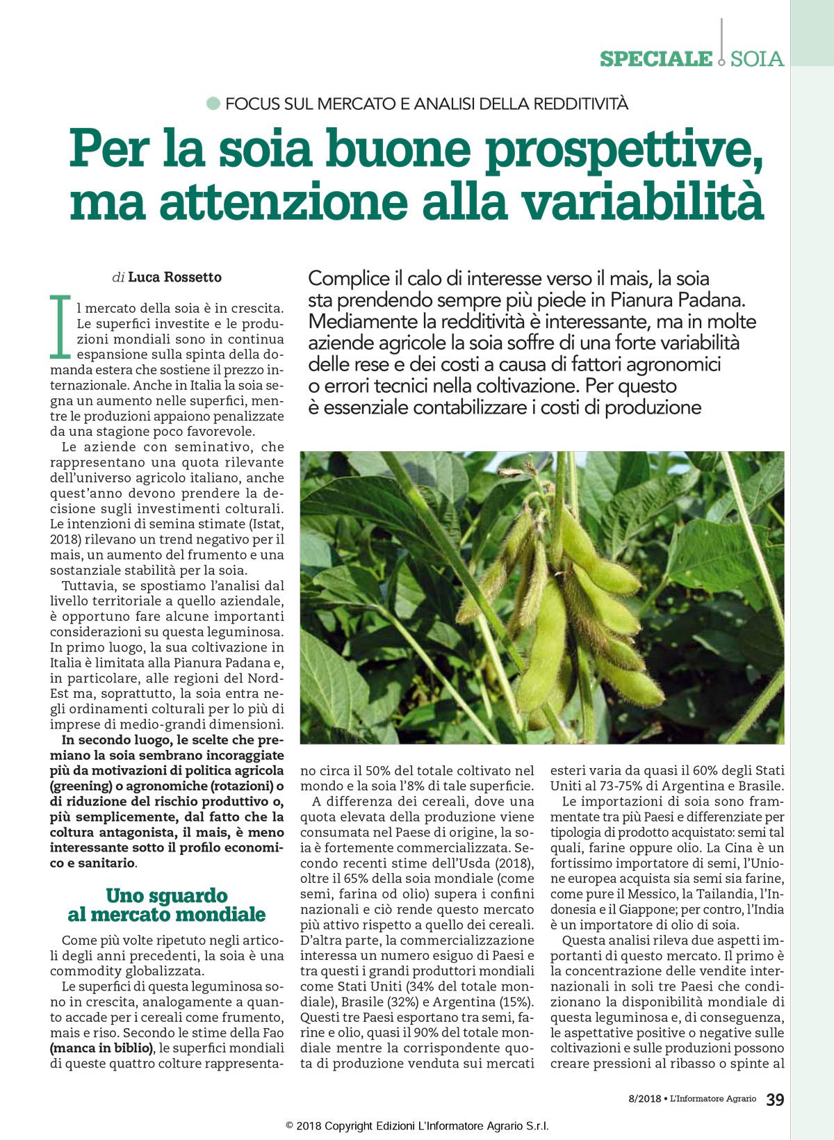 Informatore Agrario - Soia